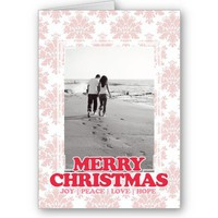 Merry Christmas Photo Custom Greeting Card