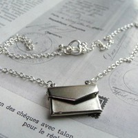 Silver Love Letter Necklace - Vintage Inspired Jewellery by Zara Taylor