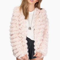 Candy Coated Fur Jacket $49