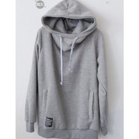 Men Winter and Autumn New Style with Hood Light Grey Cotton Hoodie M/L/XL@S5F09-1lg $17.70 only in eFexcity.com.