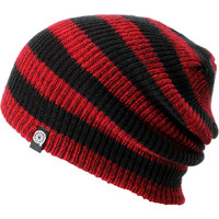 Aperture Estebon Red &amp; Black Stripe Beanie