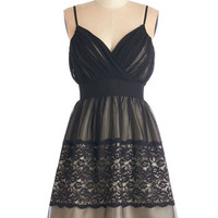 ModCloth Mid-length Spaghetti Straps A-line Fancy in the Moonlight Dress