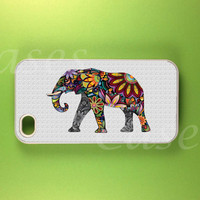 Iphone 4 Case - Colorful Elephant  Iphone Case, Iphone 4s Case