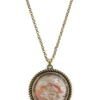 History in the Mapmaking Necklace | Mod Retro Vintage Necklaces | ModCloth.com