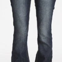 Amazon.com: Wallflower Junior Plus Size Belted Sexy Bootcut Jean in Pure Indigo: Clothing