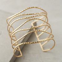 Clustered Crest Cuff by Anthropologie Gold One Size Jewelry