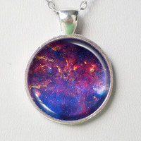 Galaxy Necklace - The  Center of the Milky Way Galaxy- Galaxy Series
