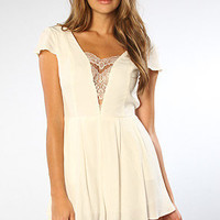 The Don&#x27;t Hold Back Playsuit in Ivory