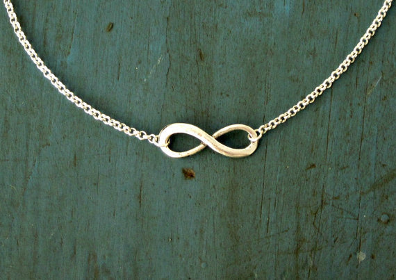 Silver Infinity Necklace Simple Minimalist Jewelry Designer Inspired