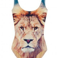 Boutique 1 - WE ARE HANDSOME - Multi Lion Print One Piece | Boutique1.com