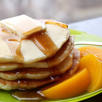 peach pancakes | Flickr - Photo Sharing!
