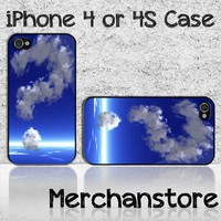 Unique Cloud Question Mark at Blue Sky Custom iPhone 4 or 4S Case Cove