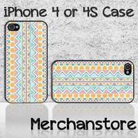Unique Aztec Pattern Custom iPhone 4 or 4S Case Cover
