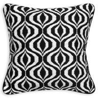 Black And White Waves Throw PillowITEM #: 23384