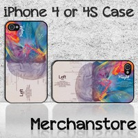 Brain Diagram Custom iPhone 4 or 4S Case Cover