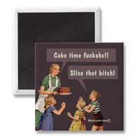 cake time refrigerator magnets from Zazzle.com