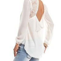 Lace-Back Utility Top: Charlotte Russe