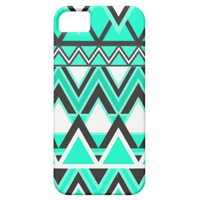 Turquoise Tribal Pattern Iphone 5 Cover from Zazzle.com