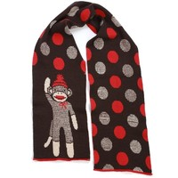 Classic Sock Monkey WIDE Scarf - Available in Stripes or Polka Dots