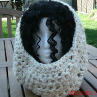 Hand Crocheted Cowl - The Cleo in Ivory -  Neck Warmer - Womens Accessories - Womens Fashion - Winter Accessories