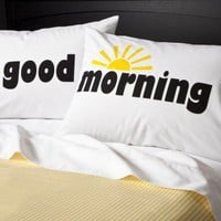 Xhilaration Good Morning Pillowcases Set