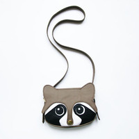 Raccoon Leather Bag