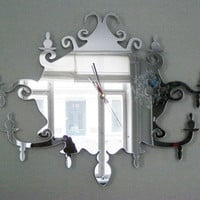 Chandelier Clock/Mirror