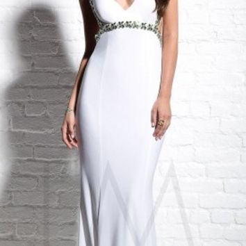 Bejeweled prom dresses by LM Collection