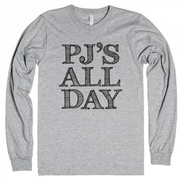 Pj's All Day-Unisex Heather Grey T-Shirt