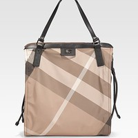 Burberry - Packable Check Nylon Tote - Saks.com