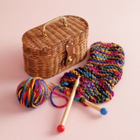 Kids' Arts & Crafts: Kids Knitting Set and Basket