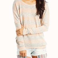 metallic-striped-dolman-sweater PEACHGREY PURPLEGREY YELLOWGREY - GoJane.com