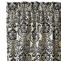 Pier 1 Imports - Product Detail - Black & Ivory Damask Window Panels