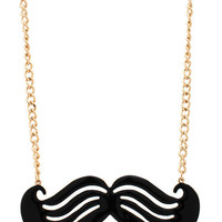 cut-out-mustache-necklace GOLDBLACK - GoJane.com
