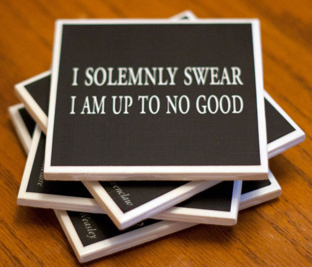 Quoting Harry Potter Mix and Match Drink Coasters by 27elements
