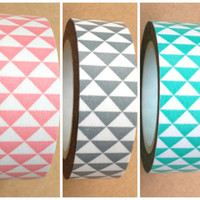 Triangles Washi Tape Roll Adhesive Stickers WT433