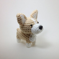SALE / Welsh Corgi Crochet Dog Amigurumi Dog Stuffed Animal / Made to Order