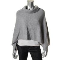 Eileen Fisher Womens Cashmere Marled Poncho Sweater
