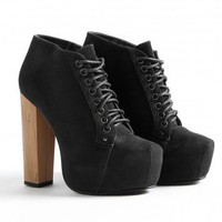 Missguided - Poulena Suede Lace Up Shoe Boots
