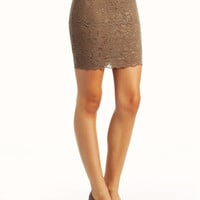 lace-mini-skirt BLACK MOCHA - GoJane.com
