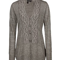 BKE Boutique Braided Cardigan Sweater - Women's Sweaters | Buckle