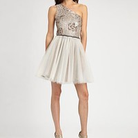 ABS - Sequined Tulle Dress