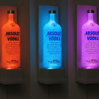 Absolut Vodka Wall Mount Color Changing LED Remote Controlled Eco