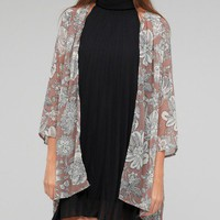 Need Supply Co. / Floral Chiffon Cardigan