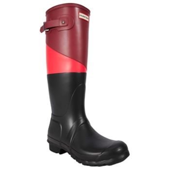 Hunter Original Asymmetrical Color Block Rain Boot at Von Maur