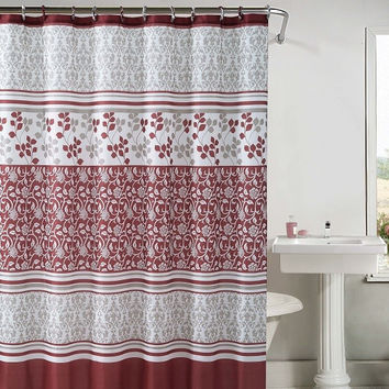 "Lyon Embossed Microfiber Shower Curtain 72""x 72"""