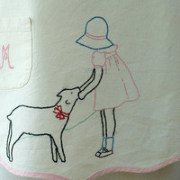 Child's Apron Mary Had A Little Lamb Vintage
