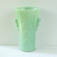 Jadeite Table Deco Vase Vintage