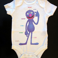Sesame Street Grover Teaches Us The Body Onesuit or Toddler Tee