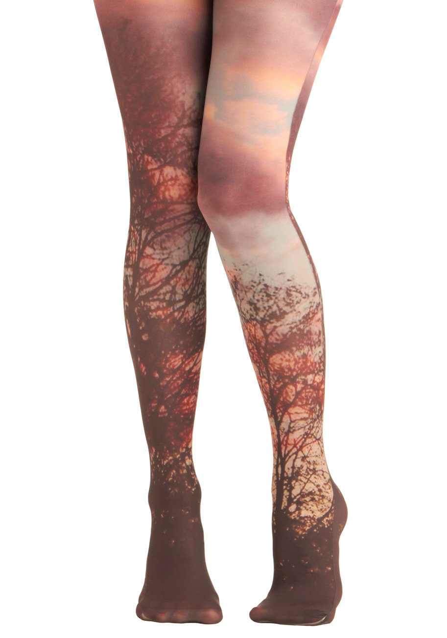 Lay of the Woodland Tights | Mod Retro Vintage Tights | ModCloth.com